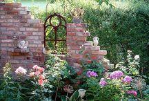 Mauer Ecke Garten