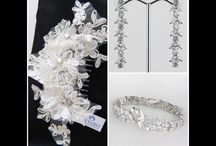 "MC BRIDAL - Accessories / ""Keyaro""Accessories #earrings #bracelet #necklaces #crystal #bags & #Headpieces all available for purchase  through our website www.mariachiodo.com"