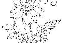 wzory kwiatów do malowania