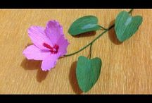 Grafon kağıto çiçek yapımı.