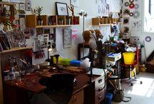Workshop Space / a sneak peek into my studio - Scarlett Erskine Jewellery