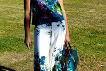 Flowers are Springing up EVERYWHERE! / Floral halter top & Palazzo Pants