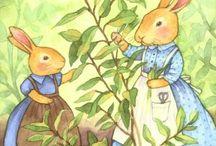 applique bunnies