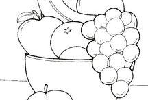 Vorlage Blumen - Obst - Gemüse