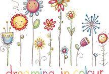 DOODLES -  FLOWERS