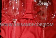 copas personalizadas aniversario, bodas de oro y plata, estuche copas grabadas para bodas, 25 y 50 aniversario