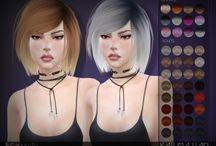Włosy kobiety Sims4
