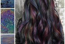 Oil slick hair +