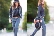 Gray pants by TrendyHoly / Grey pants, chic hat, casual chic look