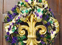 Mardi Gras wreaths  / by Linda Prince