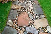 Garden rock pathways