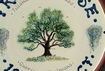 Lucienne's Trees / Interpretations of trees in ceramics by Lucienne de Mauny of Lucienne de Mauny Ceramics, Oxfordshire UK.