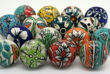 Biscay Range  / 16 beautiful, hand painted ceramic door knobs, unique designs by These Please