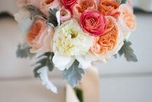 Grey & Coral / Grey and coral wedding theme with natural confetti ideas from The confetti cone company www.confetti-cones.co.uk