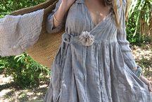 Платья / Лён и натуральные ткани