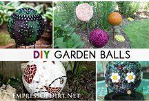 garden mosaic balls / garden mosaic balls with mosaic tiles