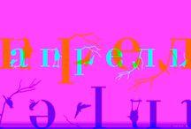 word image typography / work of my students / слово-образ / работы моих студентов