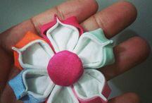 Flores em tecido / by Beatriz Silva Reis