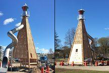 Pyramidtorn / #lekplats #lekpark #parklek #lekutrustning #lek #Pyramidtorn Lekplats Richter Spielgeräte