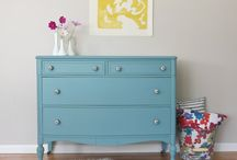 Up cycled Furniture / Turning my beautiful vintage furniture into something more contemporary