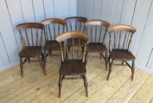 Chairs and Stools / Church chairs are wonderful pieces of furniture that have been reclaimed and restored here at UKAA. The chairs ooze character and quality, the patina on the chairs is something that has built up over the years and is something that you just can't replicate. There are lots of different style's with either rush seated seats or solid seats. Most church chairs have bible backs and are either on the back of the chair or underneath.