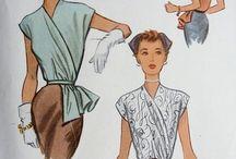 Garments Details Sewing patterns / Old, Vintage, Retro illustrations