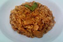 Arroz e risotos / Variações em arroz e receitas de risotos integrais , veganos,  vegetarianos e outros.