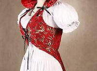 Clothing inspi: fantasy/steampunk/pirate/gypsy/wild