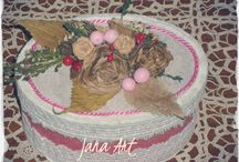 Vintage Box / Box handcrafted by me. Check my page for www.facebook.com/artelien
