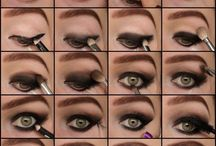applying gothic makeup