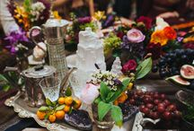 MOROCCAN TEA PARTY IN A YURT! / Rugs, blooms, crystals and fruit all together in a yurt. A beautiful vista style party x