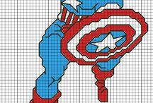 super hero corss stitch