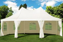Garden Gazebo Marquee Tent Outdoor Patio Camping Party Furniture White 6X4M XXL
