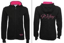 Wifey Black/Pink Full zip Hoodie