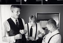 Wedding morning groom (fiance)