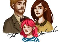 The Family Tonks / Edward 'Ted', Andromeda and Nymphadora Tonks