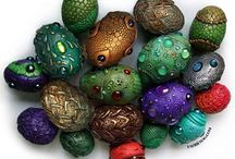 Upcycled plastic Easter Eggs.