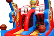 Sports Themed Inflatable Bouncers / Sporty themed bouncy are some of our most popular items to go out on the weekends!
