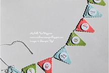 Pennant Party Ideas / Pennant banners, favors, decor, cupcake, invitations, door prize of all-occasion pennant-themed cards.  Pennant crazy! / by Too Cool Stamping