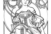 mucha colouring
