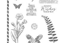 Butterfly Basics / Stampin' Up! Butterfly Basics, includes projects using the stamp set and coordinating Framelits