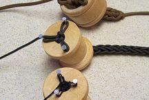 tricotin avec bobine en bois