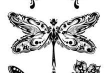 стилизованные насекомые