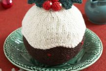 Knitted Xmas pudding ,free pattern
