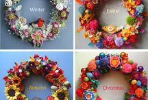 Wreaths - crochet and --