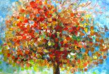 pinturas de árboles <3