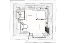 schetsen badkamer