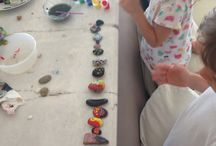 Kids summer craft / Painted stones. Kids craft