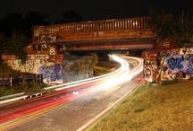 """Pensacola's Graffiti Bridge /  ~ """"This is our wall."""" ~ This is one of the reasons we love our hometown so much! The Graffiti Bridge - or 17th Ave. Train Trestle- has been used as a form of self expression for decades!"""