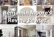 Benjamin Moore Paint Colors / Amazing paint colors from Benjamin Moore. See more paint color palettes here: http://www.interiorsbycolor.com/category/paint-color-schemes/